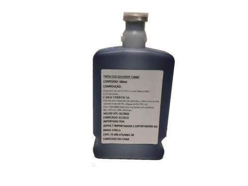 Tinta   - Ideal Distribuidora - Tinta Eco-Solvente Ciano 500ML Original EX