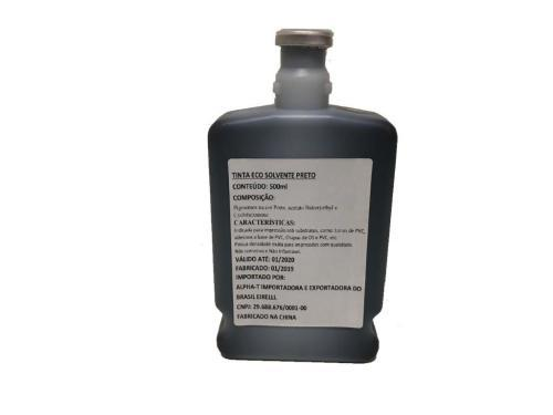 Tinta   - Ideal Distribuidora - Tinta Eco-Solvente Preto 500ML Original EX